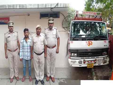 पकड़ा गया उत्तराखंड पौड़ी जिले के राठ क्षेत्र के दो युवाओं को टक्कर मारने वाला कैंटर ड्राइवर