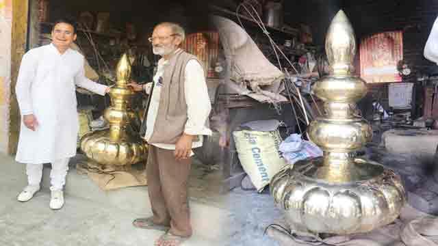 पांच सौ साल बाद बदलेगा देवलगढ़ स्थिति गौरा देवी मंदिर का कलश