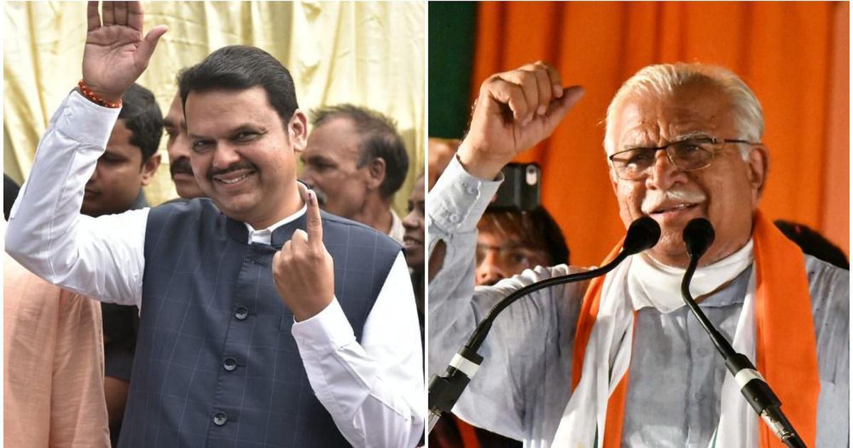 विधानसभा चुनाव में महाराष्ट्र में बीजेपी पास, हरियाणा में फंसी !