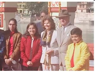 स्वीडन के राजा कार्ल गुस्ताफ और रानी सिल्विया पहुंचे तीर्थनगरी ऋषिकेश