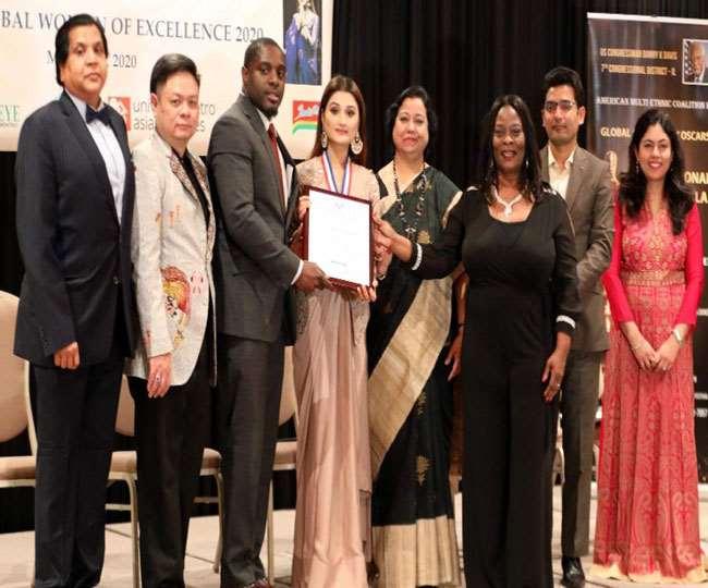 HRD  मिनिस्टर 'निशंक' की बेटी को अमेरिका ने ग्लोबल वूमेन एक्टिविस्ट अवॉर्ड से नवाजा