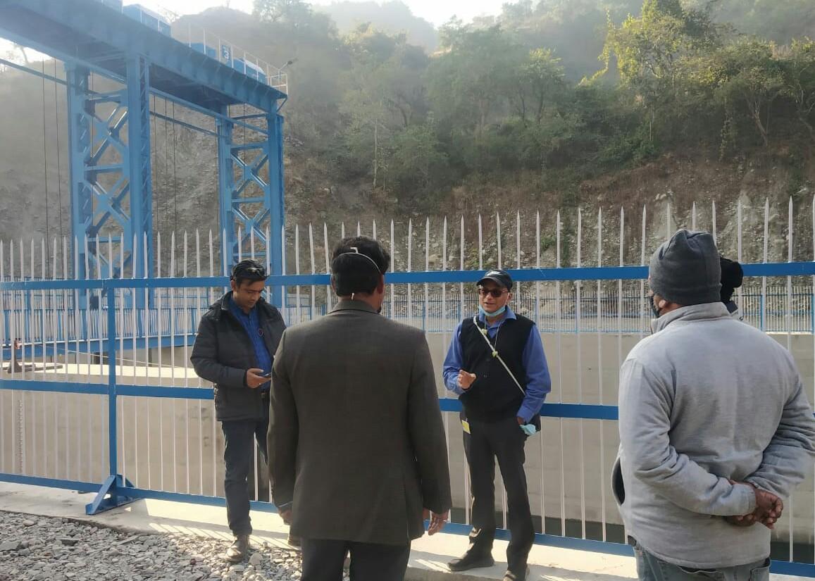 पर्यटन सचिव दिलीप जावलकर ने सूर्यधार झील और इठारना मंदिर में चल रहे निर्माण कार्यों का किया निरीक्षण