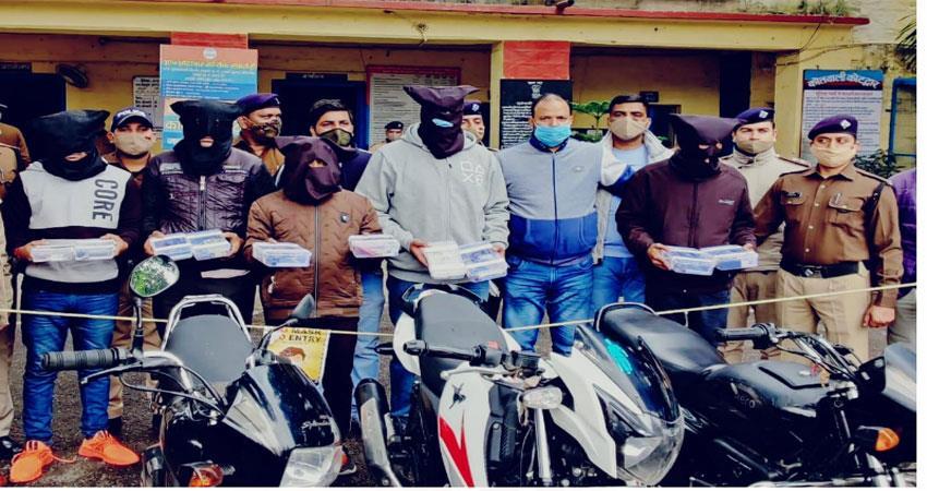 पौड़ी के कोटद्वार में हुई डकैती का पुलिस ने किया पर्दाफाश