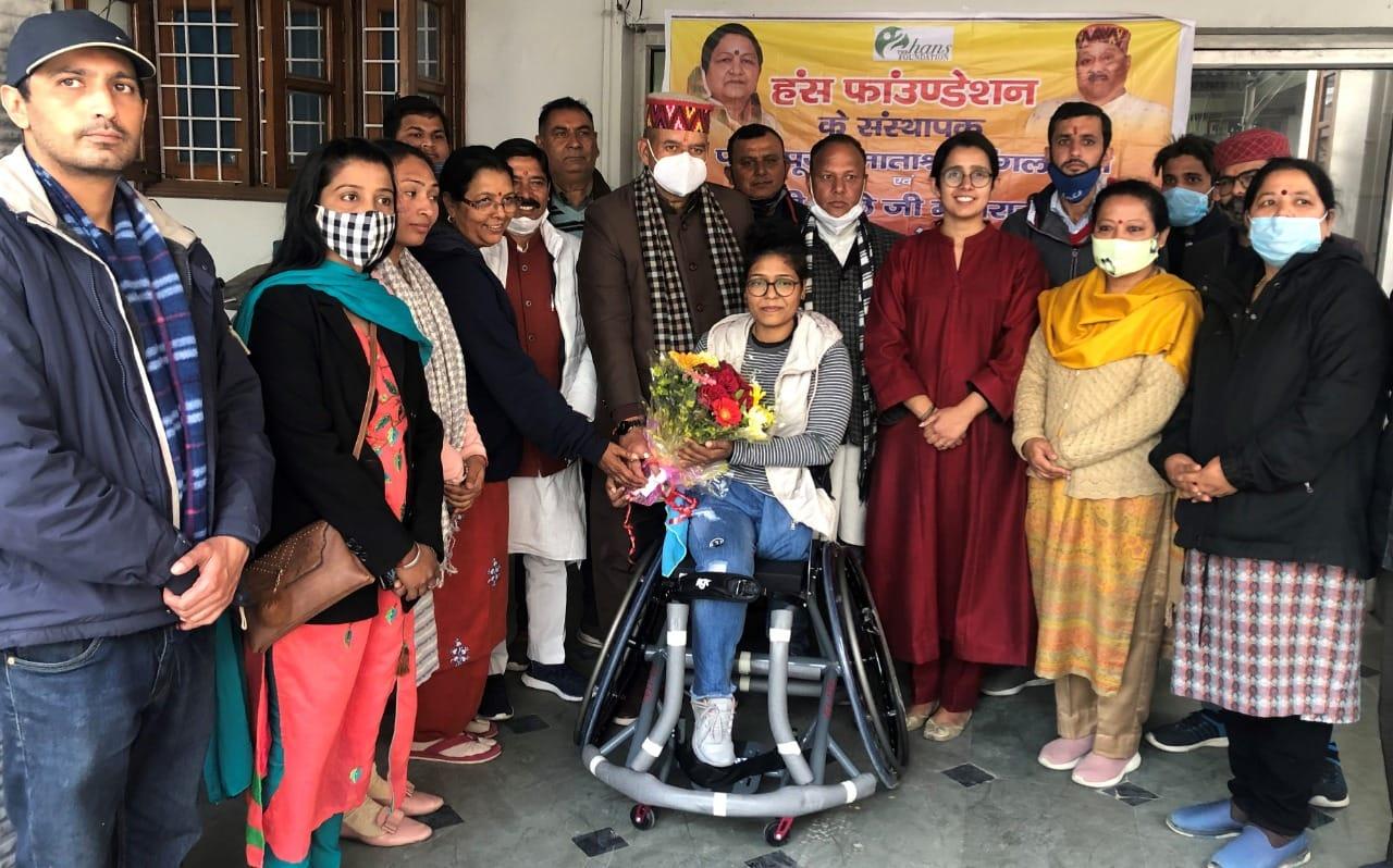 72वें गणतंत्र दिवस पर पैरालंपिक खिलाड़ी साक्षी चौहान का अर्न्तराष्ट्री पैरालंपिक खेलने का सपना हुआ स