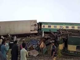 पाकिस्तान में हुए भीषण रेल हादसे ने ली 50 लोगों की जान