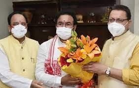 नई दिल्ली में केंद्रीय पर्यटन मंत्री जी.किशन रेड्डी सीएम पुष्कर धामी ने की भेंट